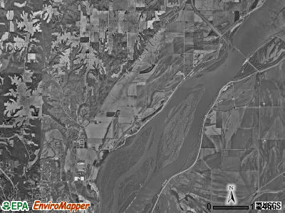 Tama township, Iowa satellite photo by USGS