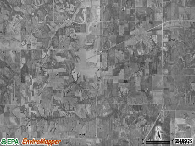 West Grove township, Iowa satellite photo by USGS