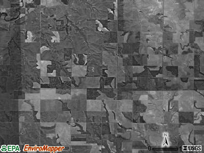 Summit township, Kansas satellite photo by USGS