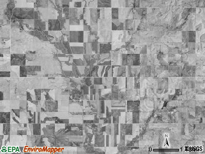 Athens township, Kansas satellite photo by USGS