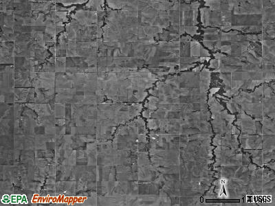 Arion township, Kansas satellite photo by USGS