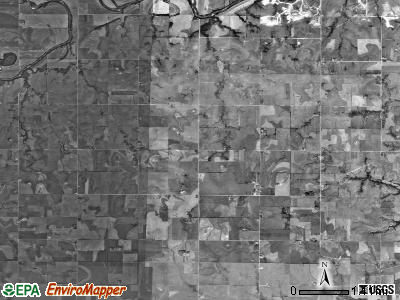 Rinehart township, Kansas satellite photo by USGS