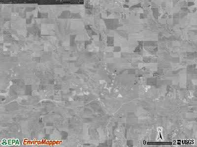 Jerome township, Kansas satellite photo by USGS