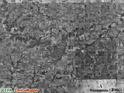 Palmyra township, Kansas satellite photo by USGS