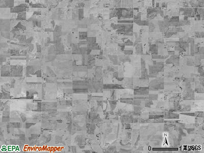 Beaver township, Kansas satellite photo by USGS