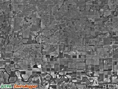 Union township, Kansas satellite photo by USGS