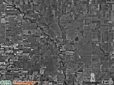 Little Valley township, Kansas satellite photo by USGS