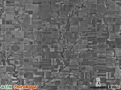 Garden township, Kansas satellite photo by USGS