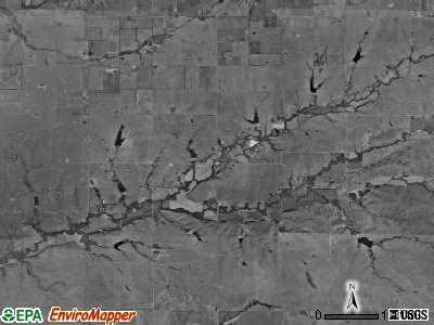 Clay township, Kansas satellite photo by USGS