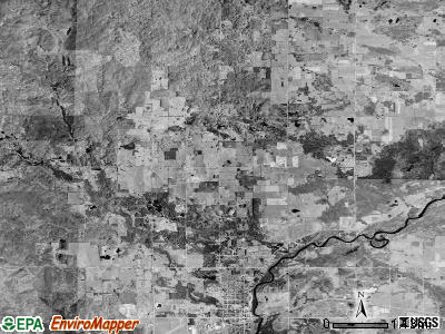 Osceola township, Michigan satellite photo by USGS