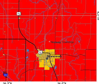Nodaway township, MO map