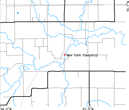 New York township, MO map