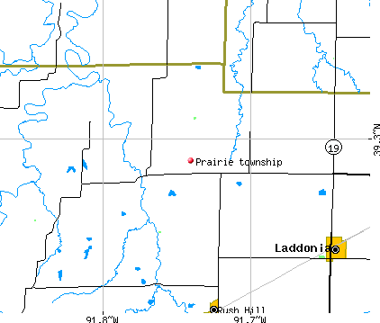 Prairie township, MO map