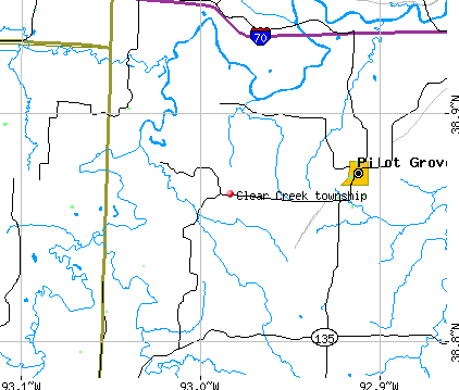 Clear Creek township, MO map