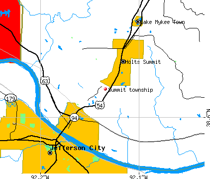 Summit township, MO map