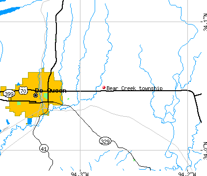 Bear Creek township, AR map