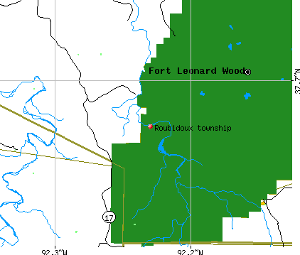 Roubidoux township, MO map