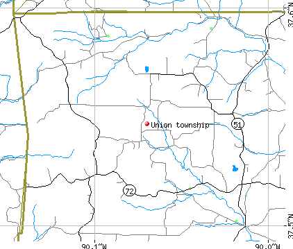 Union township, MO map