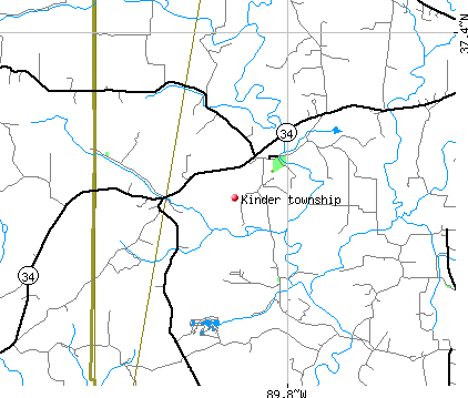Kinder township, MO map