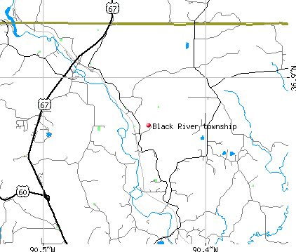 Black River township, MO map