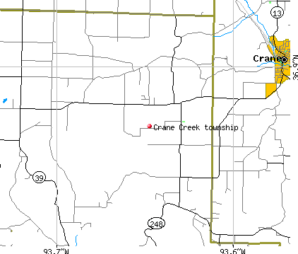 Crane Creek township, MO map