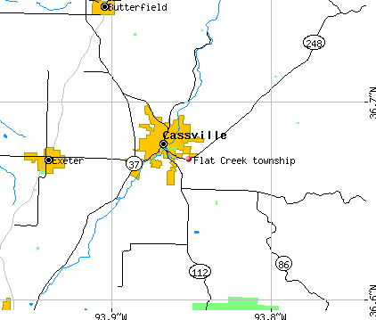 Flat Creek township, MO map