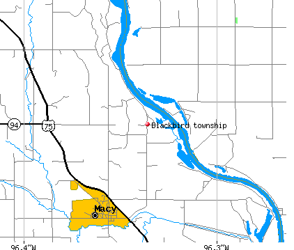 Blackbird township, NE map