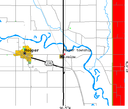 Hooper township, NE map