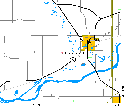 Genoa township, NE map
