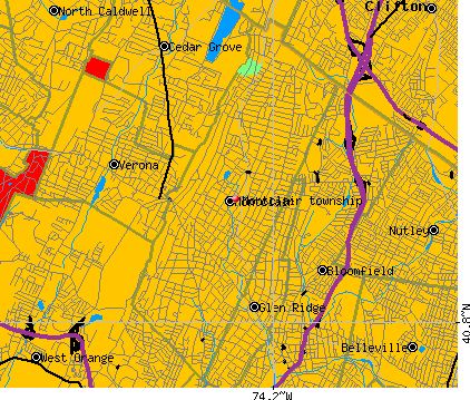 Montclair township, NJ map
