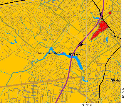 Clark township, NJ map