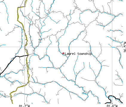 Laurel township, NC map