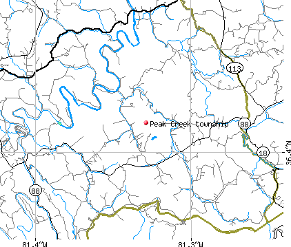 Peak Creek township, NC map