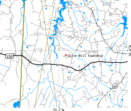 Olive Hill township, NC map