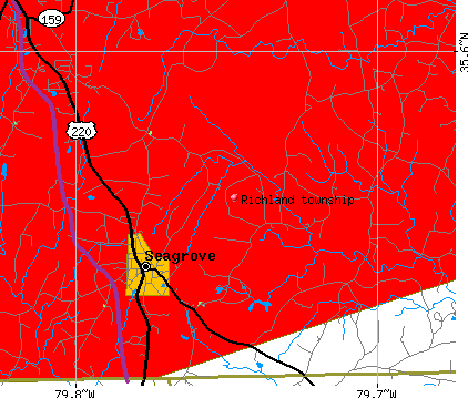 Richland township, NC map