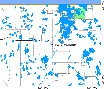 Roland township, ND map