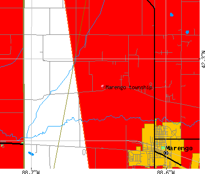 Marengo township, IL map