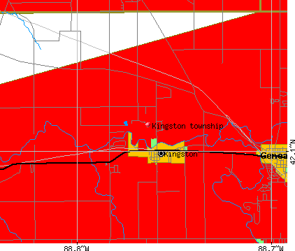 Kingston township, IL map