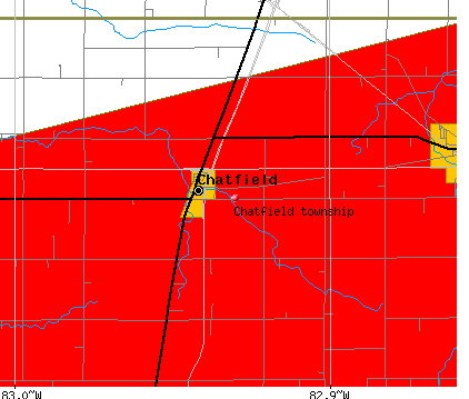 Chatfield township, OH map