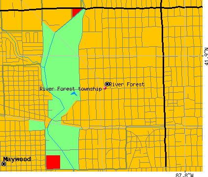 River Forest township, IL map