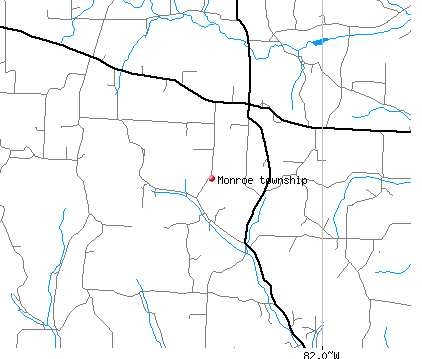 Monroe township, OH map