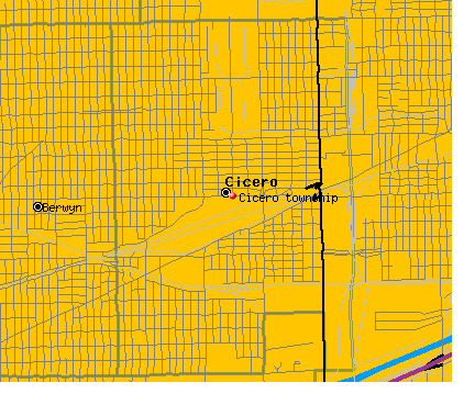 Cicero township, IL map