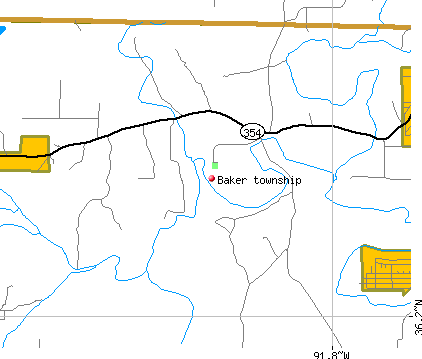 Baker township, AR map