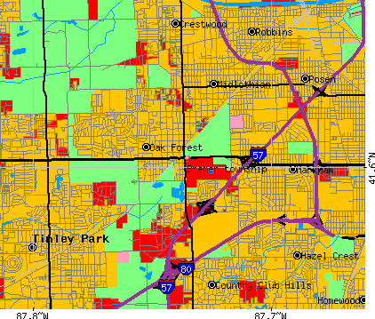 Bremen township, IL map