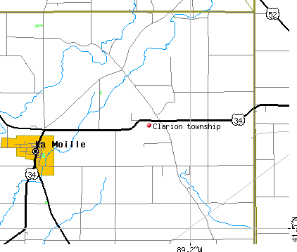 Clarion township, IL map