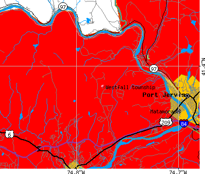 Westfall township, PA map