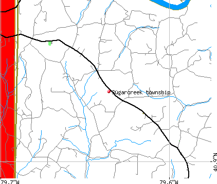 Sugarcreek township, PA map