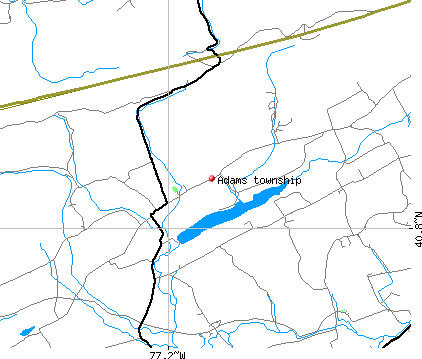 Adams township, PA map