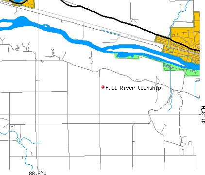 Fall River township, IL map
