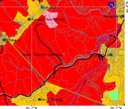 South Fayette township, PA map